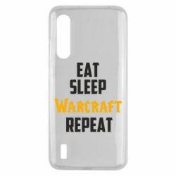 Чехол для Xiaomi Mi9 Lite Eat sleep Warcraft repeat