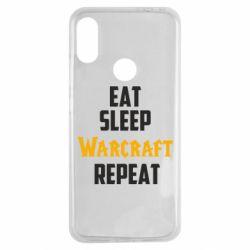 Чехол для Xiaomi Redmi Note 7 Eat sleep Warcraft repeat