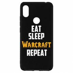 Чехол для Xiaomi Redmi S2 Eat sleep Warcraft repeat