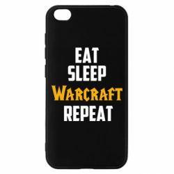 Чехол для Xiaomi Redmi Go Eat sleep Warcraft repeat
