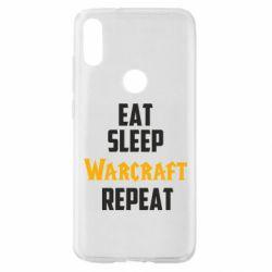 Чехол для Xiaomi Mi Play Eat sleep Warcraft repeat