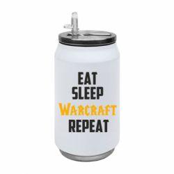 Термобанка 350ml Eat sleep Warcraft repeat
