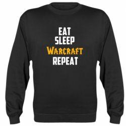 Реглан (свитшот) Eat sleep Warcraft repeat