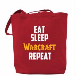Сумка Eat sleep Warcraft repeat