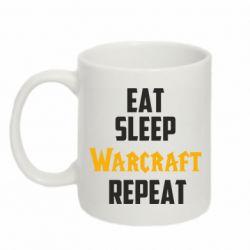 Кружка 320ml Eat sleep Warcraft repeat