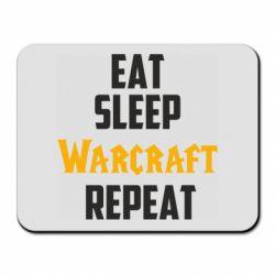 Коврик для мыши Eat sleep Warcraft repeat