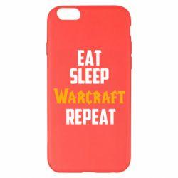 Чехол для iPhone 6 Plus/6S Plus Eat sleep Warcraft repeat