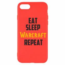 Чехол для iPhone 7 Eat sleep Warcraft repeat