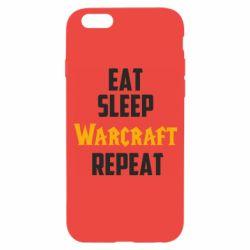 Чехол для iPhone 6/6S Eat sleep Warcraft repeat