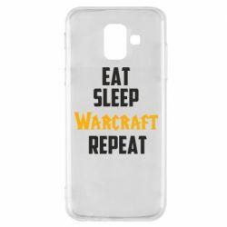 Чехол для Samsung A6 2018 Eat sleep Warcraft repeat