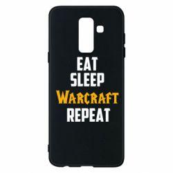 Чехол для Samsung A6+ 2018 Eat sleep Warcraft repeat