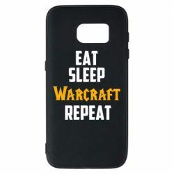 Чехол для Samsung S7 Eat sleep Warcraft repeat