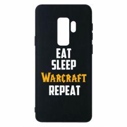 Чехол для Samsung S9+ Eat sleep Warcraft repeat