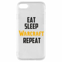 Чехол для iPhone 8 Eat sleep Warcraft repeat