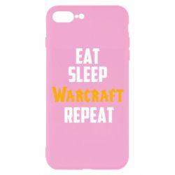 Чехол для iPhone 8 Plus Eat sleep Warcraft repeat