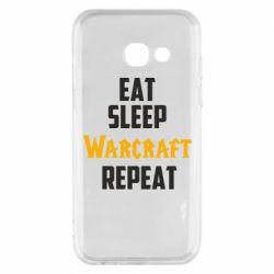 Чехол для Samsung A3 2017 Eat sleep Warcraft repeat