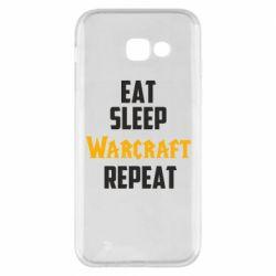 Чехол для Samsung A5 2017 Eat sleep Warcraft repeat