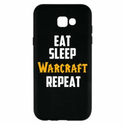 Чехол для Samsung A7 2017 Eat sleep Warcraft repeat