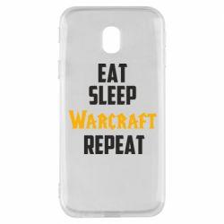 Чехол для Samsung J3 2017 Eat sleep Warcraft repeat