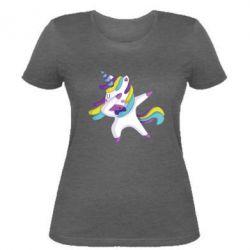 Жіноча футболка Єдиноріг робить деббінг