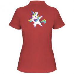 Жіноча футболка поло Єдиноріг робить деббінг