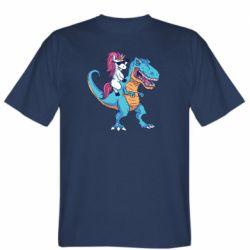 Чоловіча футболка Єдиноріг і динозавр