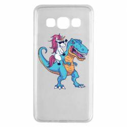 Чохол для Samsung A3 2015 Єдиноріг і динозавр
