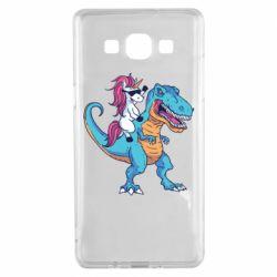 Чохол для Samsung A5 2015 Єдиноріг і динозавр