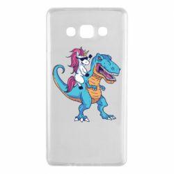 Чохол для Samsung A7 2015 Єдиноріг і динозавр