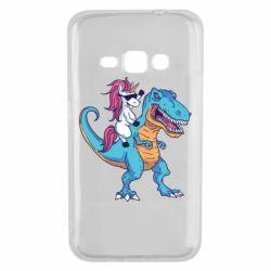 Чохол для Samsung J1 2016 Єдиноріг і динозавр