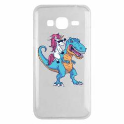 Чохол для Samsung J3 2016 Єдиноріг і динозавр