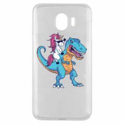 Чохол для Samsung J4 Єдиноріг і динозавр