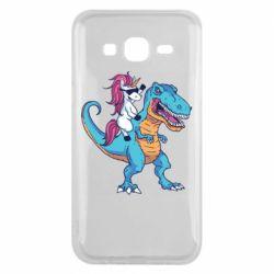 Чохол для Samsung J5 2015 Єдиноріг і динозавр