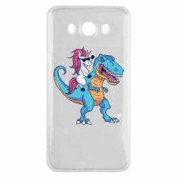 Чохол для Samsung J7 2016 Єдиноріг і динозавр