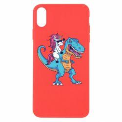 Чохол для iPhone Xs Max Єдиноріг і динозавр