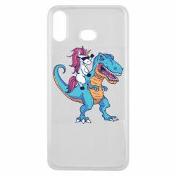 Чохол для Samsung A6s Єдиноріг і динозавр