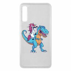 Чохол для Samsung A7 2018 Єдиноріг і динозавр