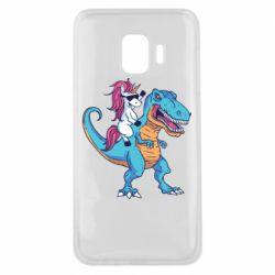 Чохол для Samsung J2 Core Єдиноріг і динозавр