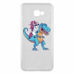 Чохол для Samsung J4 Plus 2018 Єдиноріг і динозавр