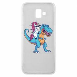 Чохол для Samsung J6 Plus 2018 Єдиноріг і динозавр
