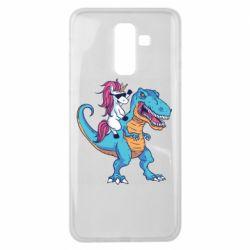 Чохол для Samsung J8 2018 Єдиноріг і динозавр