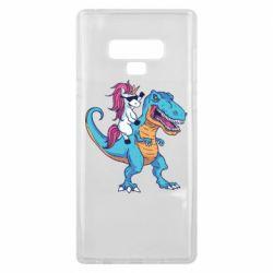 Чохол для Samsung Note 9 Єдиноріг і динозавр