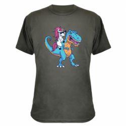 Камуфляжна футболка Єдиноріг і динозавр
