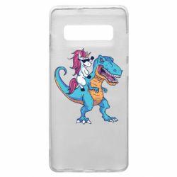 Чохол для Samsung S10+ Єдиноріг і динозавр