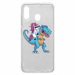Чохол для Samsung A20 Єдиноріг і динозавр