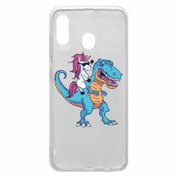 Чохол для Samsung A30 Єдиноріг і динозавр