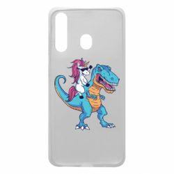 Чохол для Samsung A60 Єдиноріг і динозавр