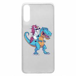 Чохол для Samsung A70 Єдиноріг і динозавр