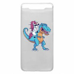 Чохол для Samsung A80 Єдиноріг і динозавр