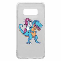 Чохол для Samsung S10e Єдиноріг і динозавр